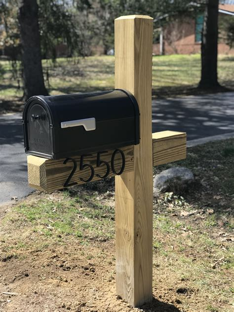 Diy Wood Mailbox Post
