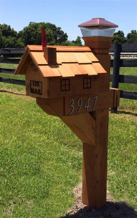 Diy Wood Mailbox Post Ideas