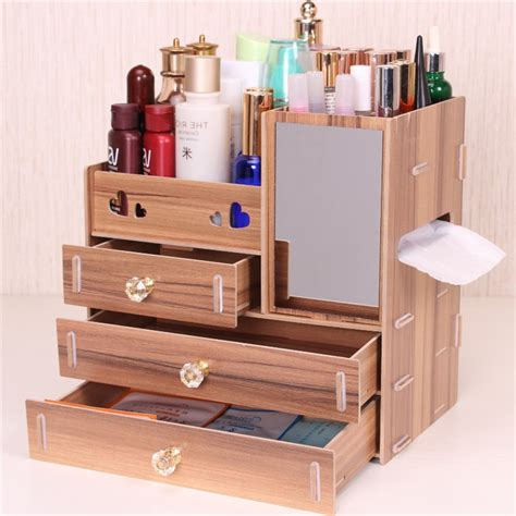 Diy Wood Makeup Caddy On Wheels