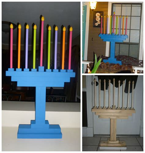 Diy Wood Menorah To Paint
