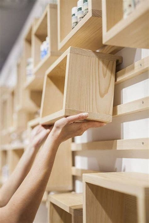 Diy Wood Modular Storage Wall Shelves