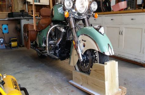 Diy Wood Motorcycle Wheel Chock