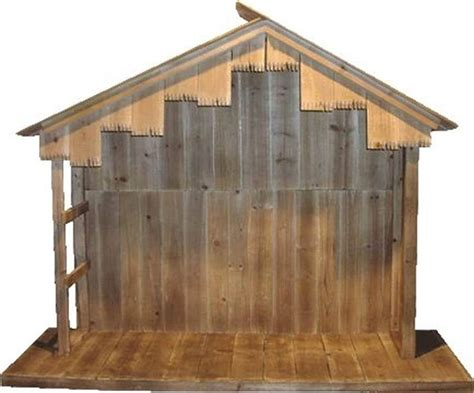 Diy Wood Nativity Stable For Sale