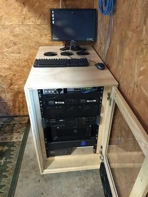 Diy Wood Network Rack