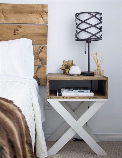 Diy Wood Nightstand Ideas With Dark