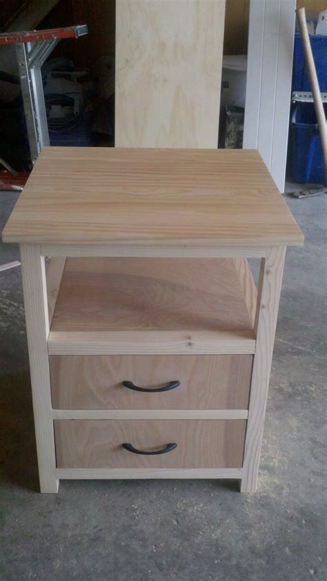 Diy Wood Nightstand Plans By Ana