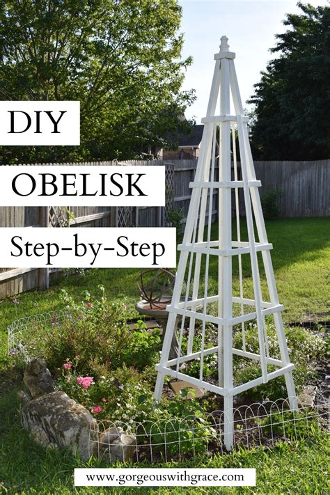 Diy Wood Obelisk Trellis