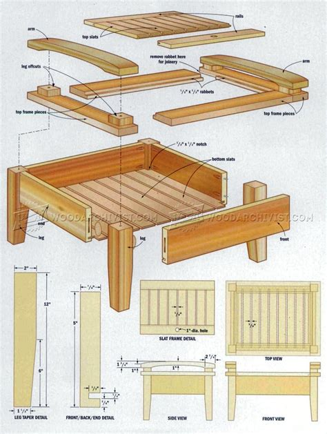 Diy Wood Ottoman Plans Free
