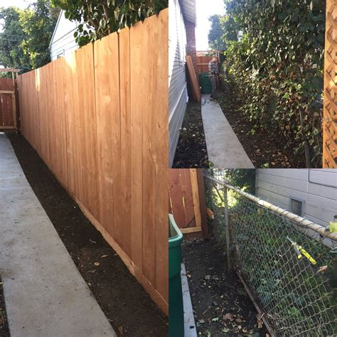 Diy Wood Over Chain Link Fence