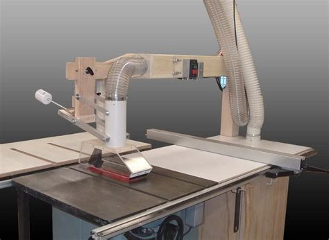 Diy Wood Overhead Table Saw Dust Collector