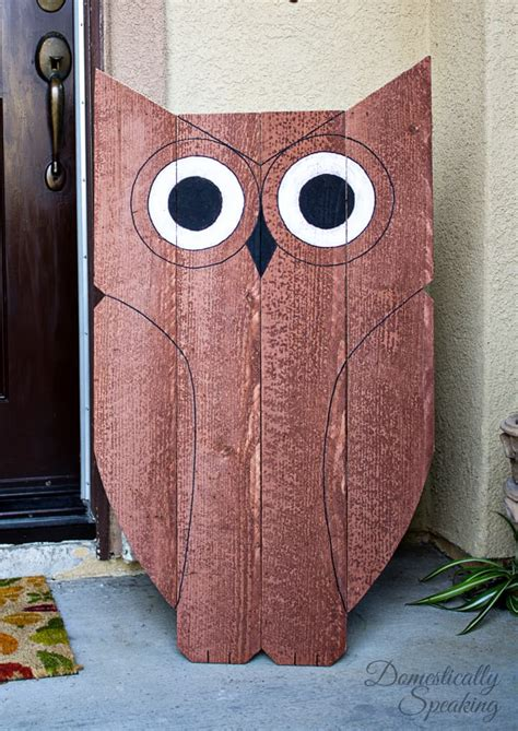 Diy Wood Owl Decorations