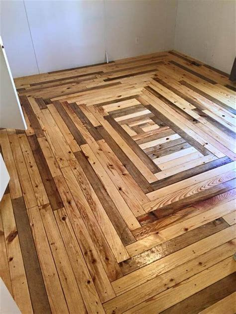 Diy Wood Pallet Bedroom Flooring
