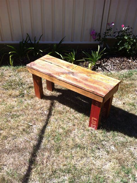 Diy Wood Pallet Bench Instructables