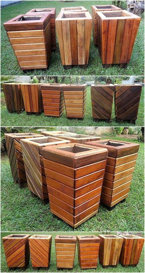 Diy Wood Pallet Flower Pots