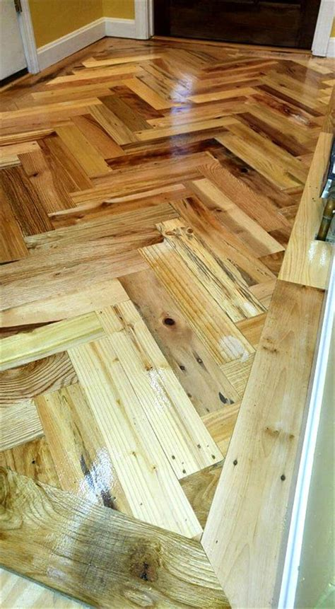 Diy Wood Pallet Hallway Floor
