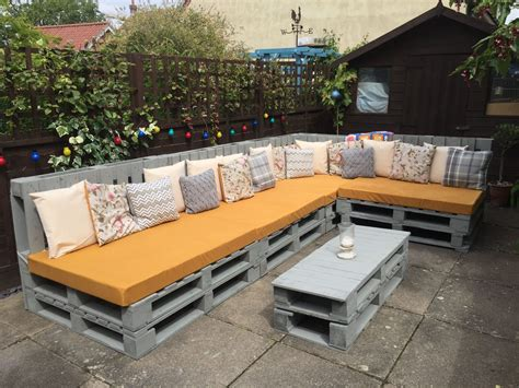 Diy Wood Pallet Sectional Patio