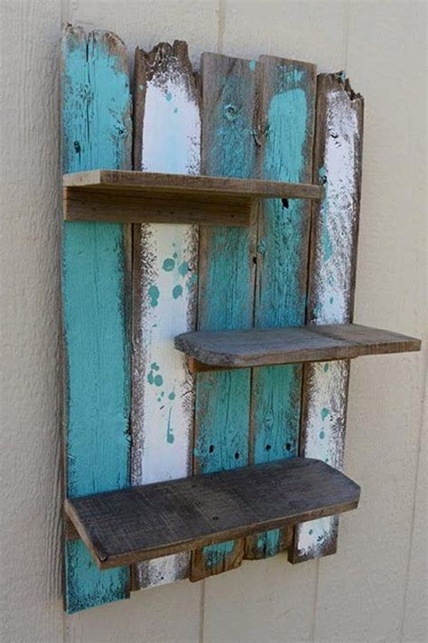 Diy Wood Pallet Wall Shelves Images