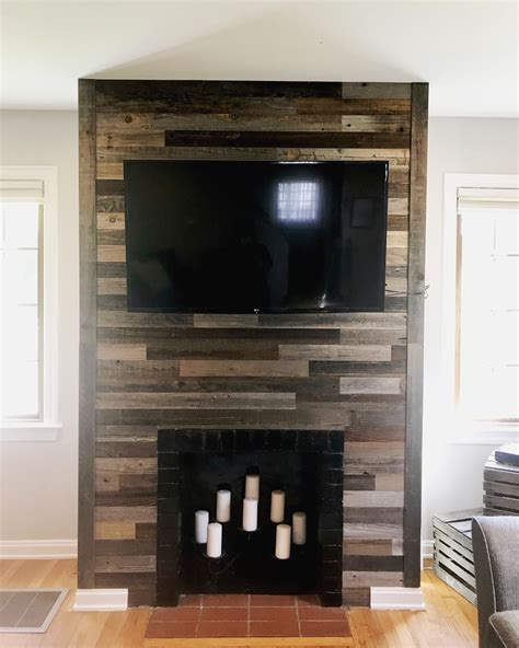 Diy Wood Panel Fireplaces