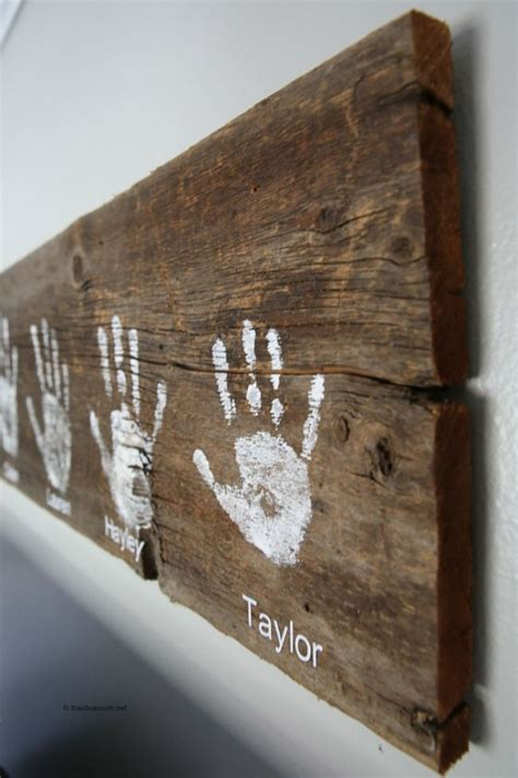 Diy Wood Panel Handprints And Footsteps