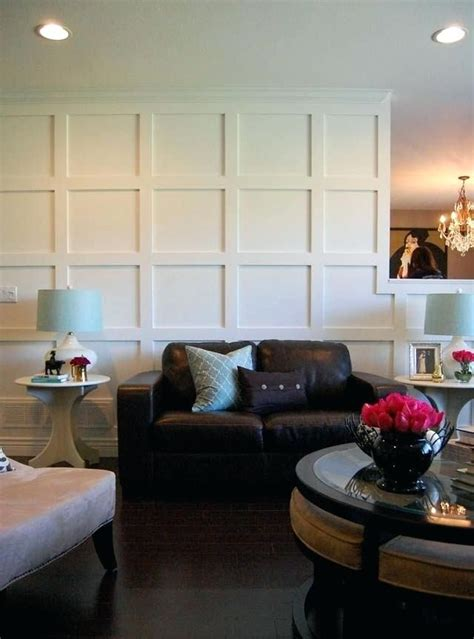 Diy Wood Paneled Wall With Crown Molding