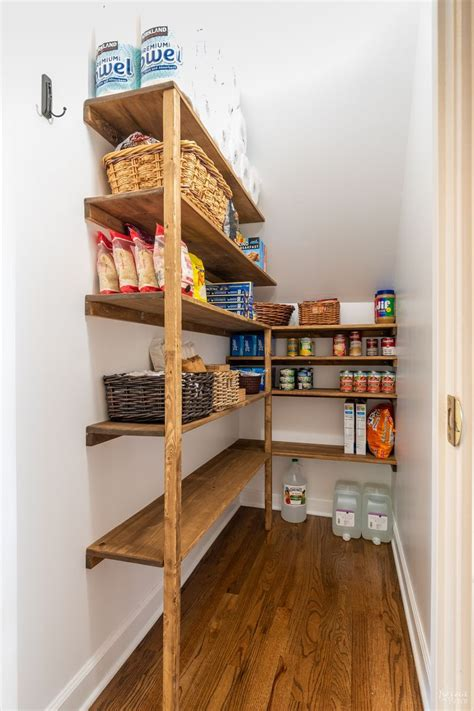 Diy Wood Pantry Shelves