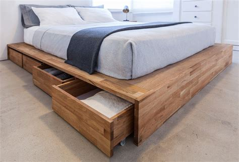 Diy Wood Pedestal Bed With Storage