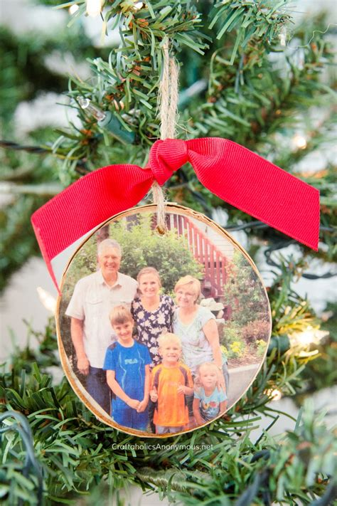 Diy Wood Photo Ornaments