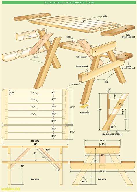 Diy Wood Picnic Table Plans Pdf