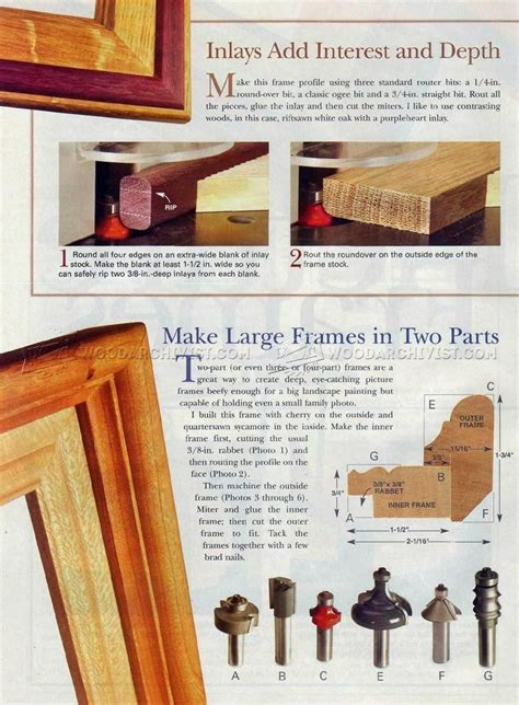 Diy Wood Picture Frame Router For Back