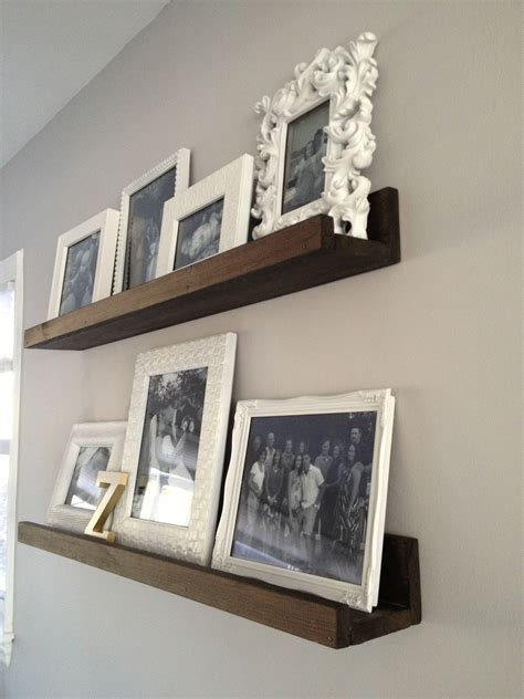 Diy Wood Picture Shelf For Wall