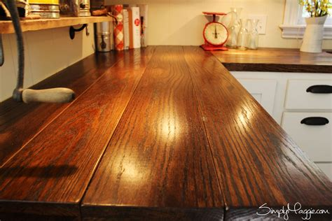Diy Wood Plank Butcher Block Countertops