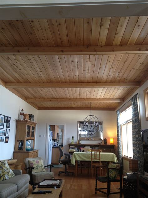 Diy Wood Plank Ceilings In Living