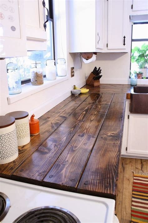 Diy Wood Plank Countertop