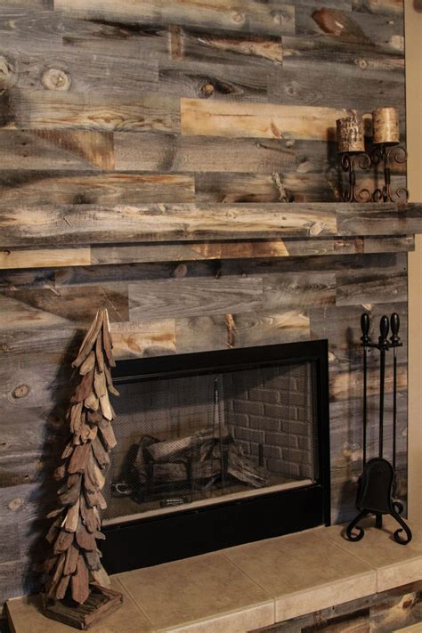 Diy Wood Plank Fireplace Wall