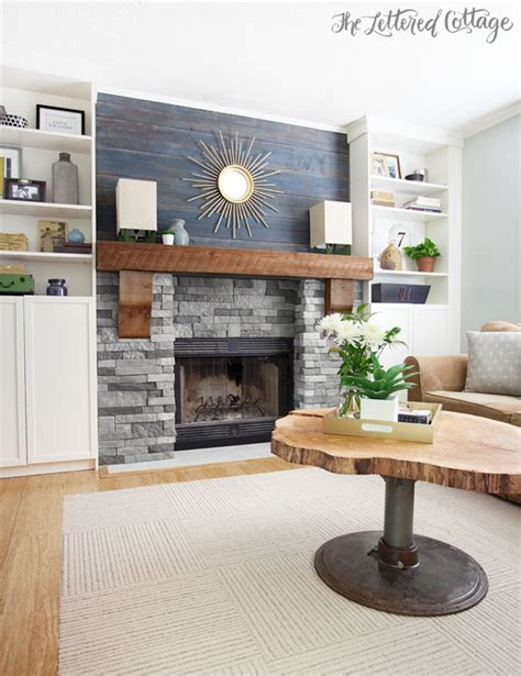 Diy Wood Plank Mantle Cell