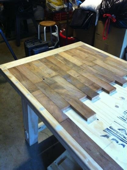 Diy Wood Plank Storage Table