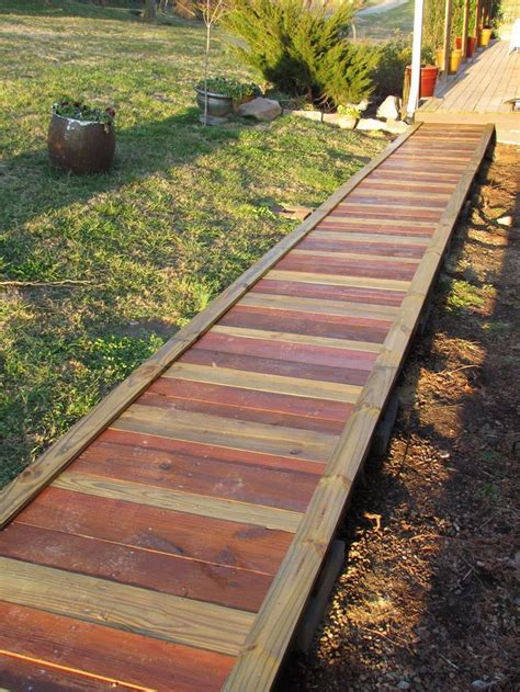Diy Wood Plank Walkway