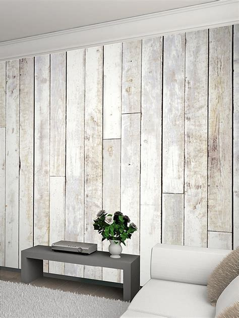 Diy Wood Plank Wall White Trim