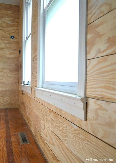 Diy Wood Plank Wall With Plywood Home