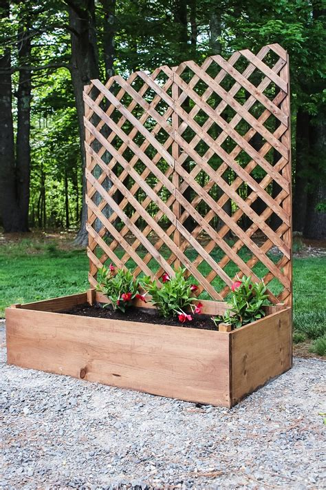 Diy Wood Planter With Trellis