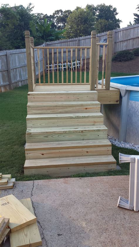 Diy Wood Pool Ladder
