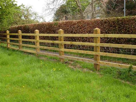 Diy Wood Post And Rail Fence