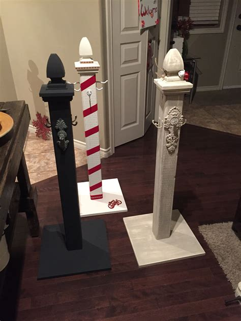Diy Wood Post Stocking Hanger