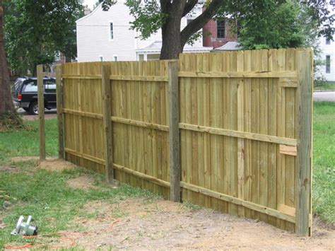Diy Wood Privacy Fence Installation