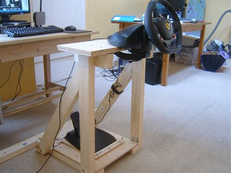 Diy Wood Racing Wheel Stand