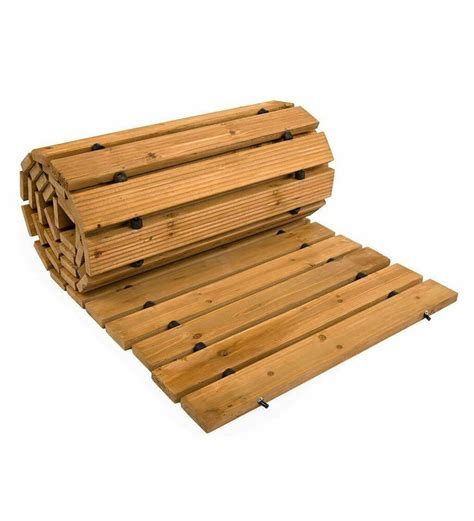 Diy Wood Roll Up Walkways