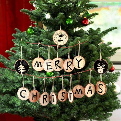 Diy Wood Round Ornaments Clip