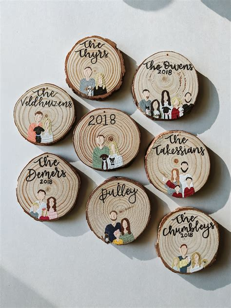 Diy Wood Round Ornaments Personalized