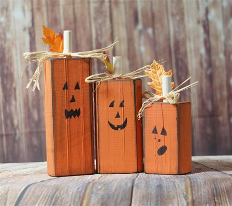 Diy Wood Rustic Pumpkins Ideas For Halloween