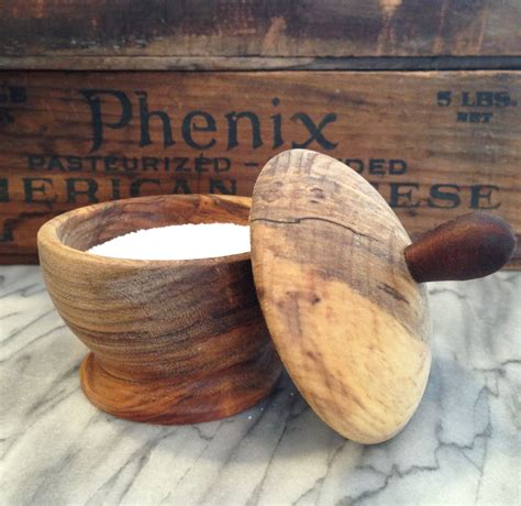 Diy Wood Salt Cellar With Lid